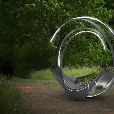 ม้านั่งผลิตจากชิ้นส่วนรีไซเคิลเครื่องบิน ดูแลตัวเอง ทั้งแสงสว่าง และน้ำหล่อเลี้ยงต้นไม้ 14 - Airplane
