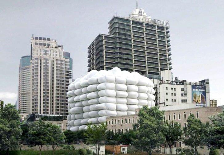 IMG 7259 Bubble Building ..ผนังเป่าลม ป้องกันแบคทีเรีย