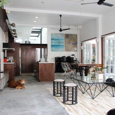 ปรับปรุงทาวน์เฮาส์เก่า 60ปี เป็นบ้านสมัยใหม่ พื้นคอนกรีต สว่าง โปร่ง โล่ง 14 - concrete floor