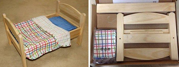 IMG 7757 เตียงแมว.. จากเตียงตุ๊กตา IKEA