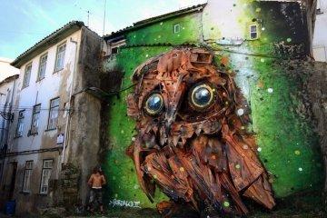 """รีไซเคิล """"ขยะ"""" ให้เป็นงานศิลปะ 3D Street Art 12 - installation art"""