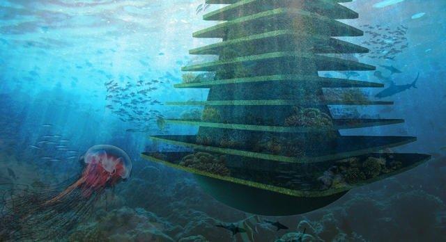 Sea Trees ..ป่าลอยน้ำ ที่พักพิงสำหรับสิ่งมีชีวิตในธรรมชาติ ในเขตเมืองหนาแน่น 13 - Architecture