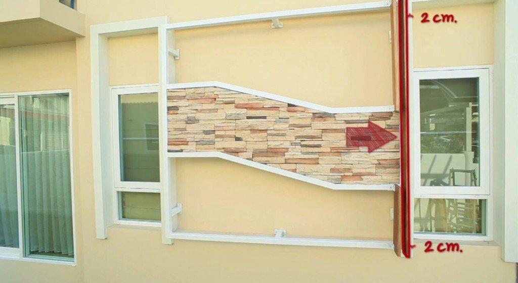 IMG 9165 DIY เปลี่ยนผนังร้อนเป็นระแนงไม้ งามง่ายๆ สบายๆ