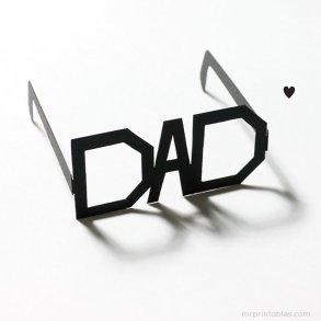 DIY: Father's Day Printable Typography Glasses แว่นสำหรับคุณพ่อสุดแนว 25 - Art & Design