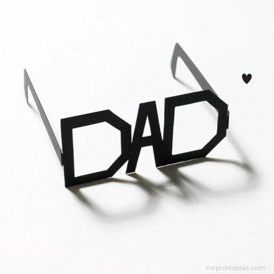DIY: Father's Day Printable Typography Glasses แว่นสำหรับคุณพ่อสุดแนว 27 - Art & Design