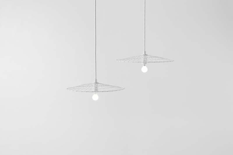 2 basket lamp by nendo kyoto kanaami tsuji Basket Lamp โคมไฟที่ใช้เทคนิคการตัดอุปกรณ์การทอดเต้าหู้
