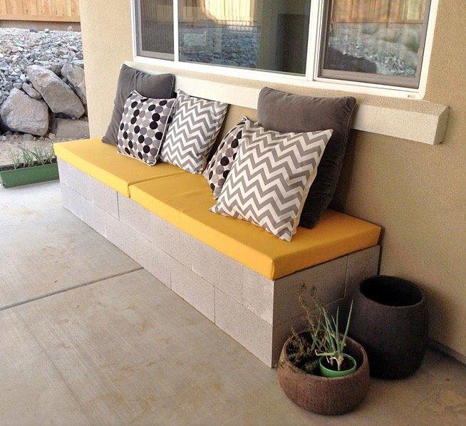 IMG 9423 ไอเดียม้านั่งนอกบ้าน..ทำเองได้ง่ายๆ วัสดุบ้านๆ