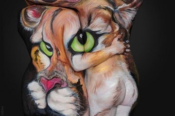 Body Painting ..เปลี่ยนร่างกายมนุษย์เป็นภาพสัตว์ที่สวยงาม