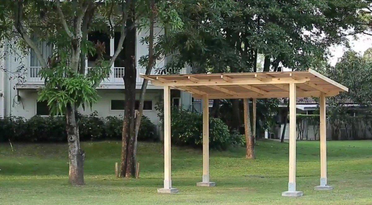 DIY ศาลานั่งเล่นในสวน ทำเองได้ง่ายๆงบไม่บาน 15 - 100 Share+