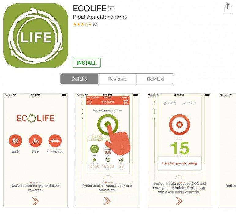 ECO Life app สนุกกับการเดินทาง ได้ประหยัดพลังงาน และสะสมแต้มรับของรางวัล 3 - Eco