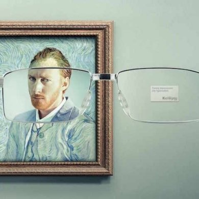 โฆษณาแว่นตา ที่แม้แต่ภาพimpressionist เบลอๆ ยังคมชัดได้! 18 - advertising