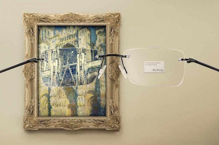 โฆษณาแว่นตา ที่แม้แต่ภาพimpressionist เบลอๆ ยังคมชัดได้! 15 - advertising