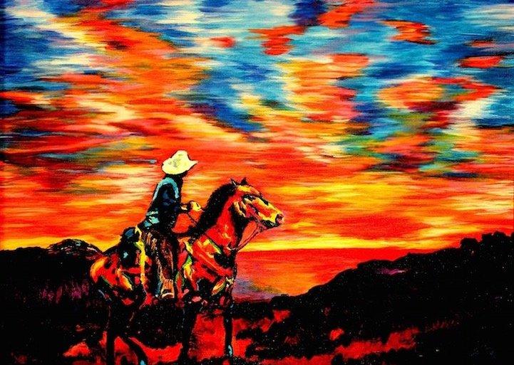 ศิลปินตาบอดสนิท วาดภาพที่เต็มไปด้วยสีสันด้วยการสัมผัส พื้นผิวของสีและผ้า 14 - blind