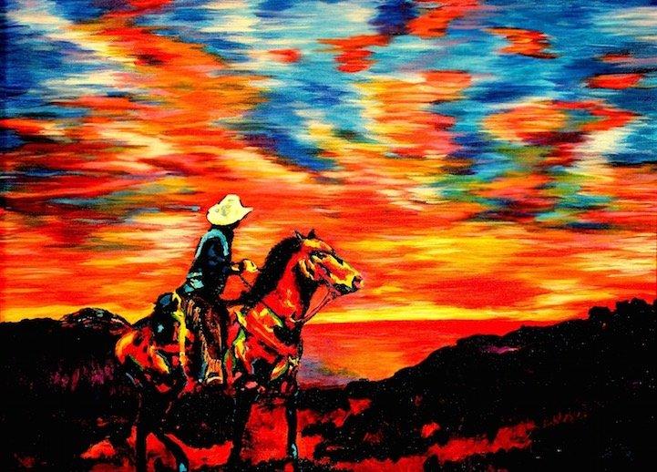 ศิลปินตาบอดสนิท วาดภาพที่เต็มไปด้วยสีสันด้วยการสัมผัส พื้นผิวของสีและผ้า 15 - Art & Design
