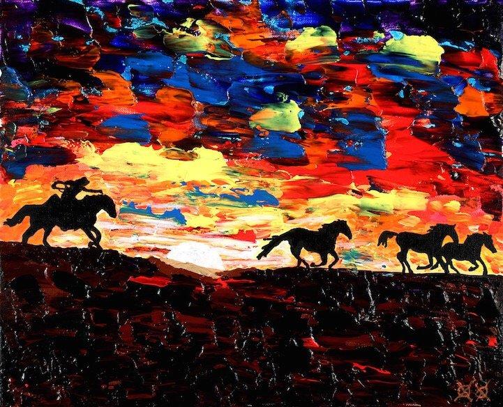 ศิลปินตาบอดสนิท วาดภาพที่เต็มไปด้วยสีสันด้วยการสัมผัส พื้นผิวของสีและผ้า 21 - Art & Design