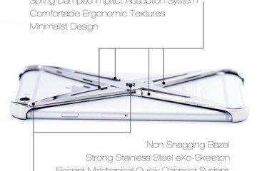 eXo iPhone case.. แรงบันดาลใจจากระบบโครงกระดูก รับแรงกระแทกได้อย่างง่ายๆ