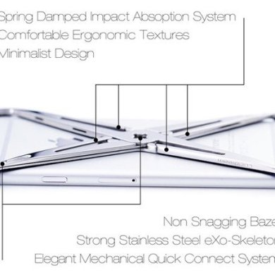 eXo iPhone case.. แรงบันดาลใจจากระบบโครงกระดูก รับแรงกระแทกได้อย่างง่ายๆ 14 - Art & Design