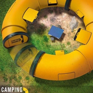 Camping Doughnut เต้นท์ติดตั้งง่าย มีความเป็นส่วนตัว ในความเป็นกลุ่มก้อน 19 - camping