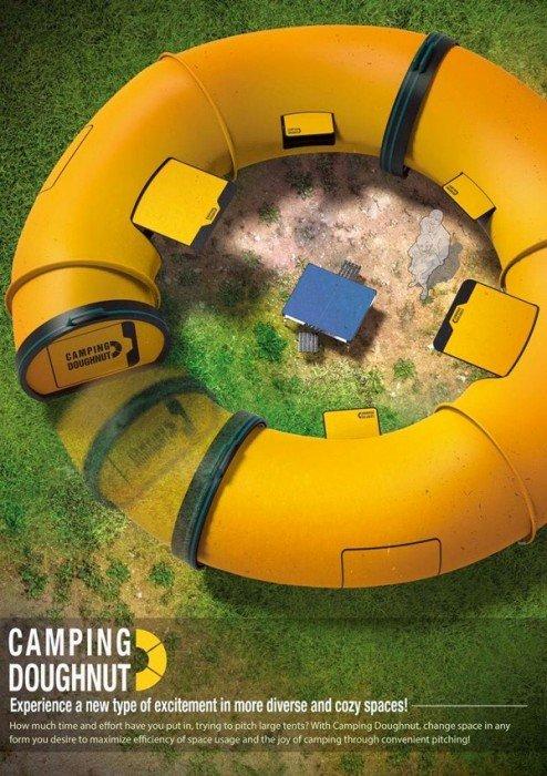Camping Doughnut เต้นท์ติดตั้งง่าย มีความเป็นส่วนตัว ในความเป็นกลุ่มก้อน 14 - camping
