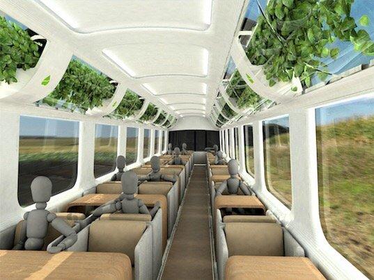 รถไฟที่ใช้เทคโนโลยีจากNASA เพื่อสร้างอากาศบริสุทธิ์แบบธรรมชาติภายในรถ 14 - NASA