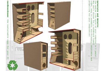 The Recycled Cardboard Computer Case คอมพิวเตอร์กระดาษ 4 - Computer