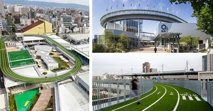 ประสบการณ์ใหม่ของคอมมูนิตี้มอลล์ เปลี่ยนดาดฟ้าเป็นลู่วิ่ง สนามบอลล์ 13 - Japan