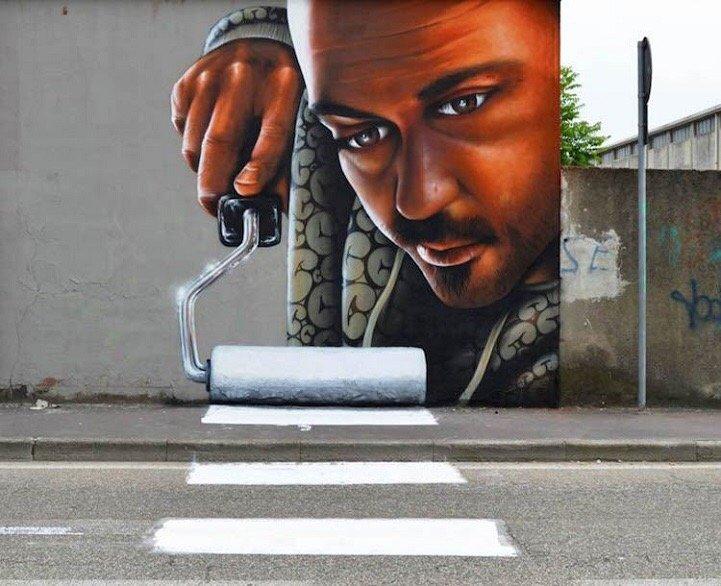 Street Art ที่สร้างเรื่องราวกับสิ่งแวดล้อมได้อย่างสนุก..กระแทกสายตา 14 - Interactive