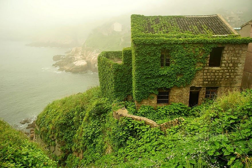 หมู่บ้านชาวประมงในจีน ที่ถูกธรรมชาติยึดพื้นที่คืน 16 - abandon village