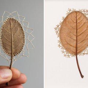 ศิลปะการถักทอ บนใบไม้.. สมดุลระหว่างความบอบบาง และแข็งแกร่ง 15 - Art & Design