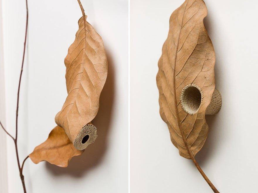 ศิลปะการถักทอ บนใบไม้.. สมดุลระหว่างความบอบบาง และแข็งแกร่ง 27 - Art & Design