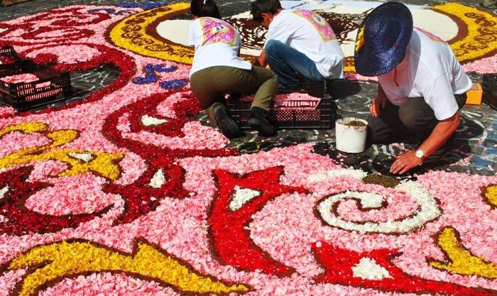 Genzanodi Roma Flower Festival เทศกาลปูพรมดอกไม้ทั่วถนนย่านเมืองเก่าแก่ 31 - GREENERY