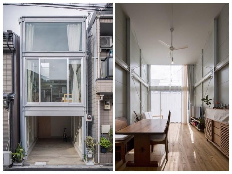 บ้านที่เกิดจากพื้นที่ระหว่างอาคาร กว้างเพียง 3.4 เมตร 15 - Japan