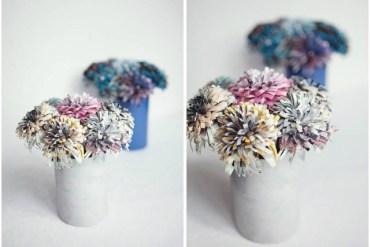 DIY  ดอกไม้กระดาษจากนิตยสาร 13 - Flower
