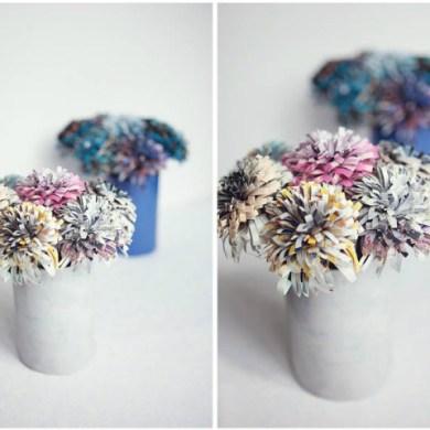 DIY ดอกไม้กระดาษจากนิตยสาร 15 - Flower