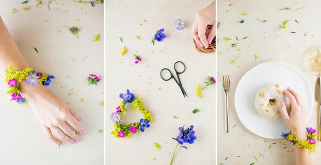 DIY : กำไลดอกไม้ 13 - Accessory
