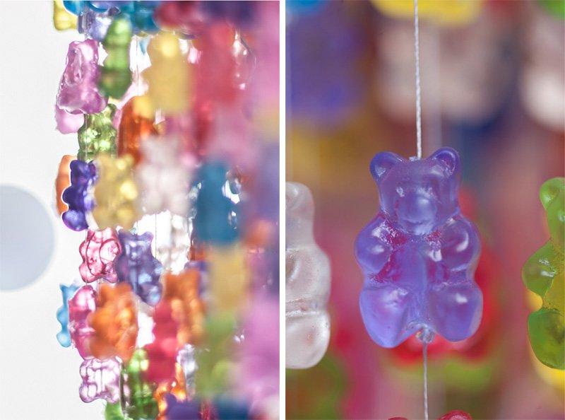 k1 Gummy Bear Chandelier โคมระย้าจากขนมเจลลี่หมี