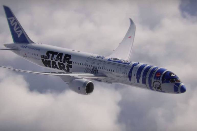 เมื่อ R2D2 กลายเป็นเครื่องบินของจริง! Starwars+ANA ออกสู่โลกแล้ว 14 - Airplane