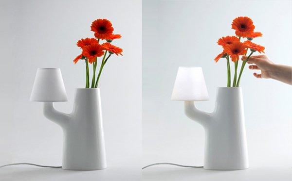 แจกันโคมไฟ...ใช้การสัมผัสดอกไม้ เป็นสวิตช์เปิด-ปิด 13 - lamp design