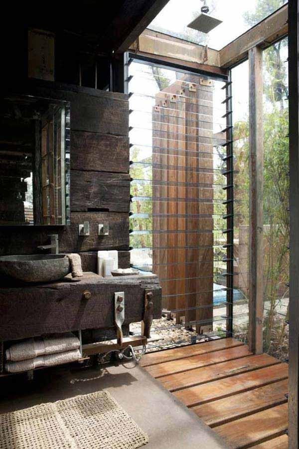 rustic bathroom ideas 12 30 ห้องน้ำที่ไม่ซ้ำบ้านไหนๆ แขกไปใครมาจำได้แน่นอน