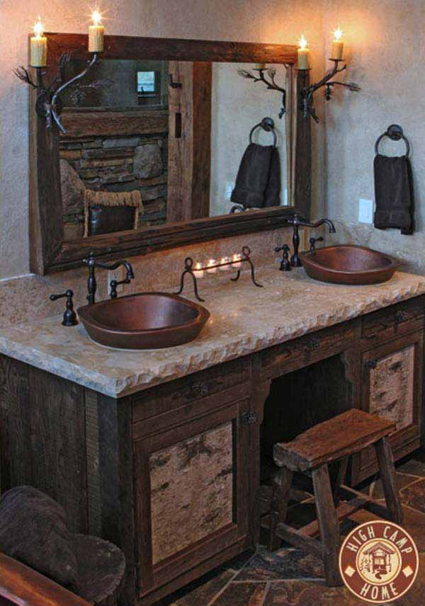 rustic bathroom ideas 13 30 ห้องน้ำที่ไม่ซ้ำบ้านไหนๆ แขกไปใครมาจำได้แน่นอน