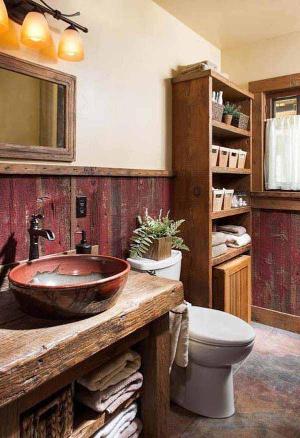 rustic bathroom ideas 15 30 ห้องน้ำที่ไม่ซ้ำบ้านไหนๆ แขกไปใครมาจำได้แน่นอน