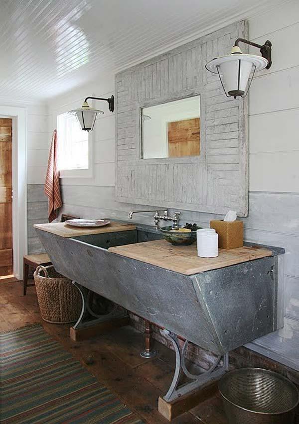rustic bathroom ideas 2 30 ห้องน้ำที่ไม่ซ้ำบ้านไหนๆ แขกไปใครมาจำได้แน่นอน