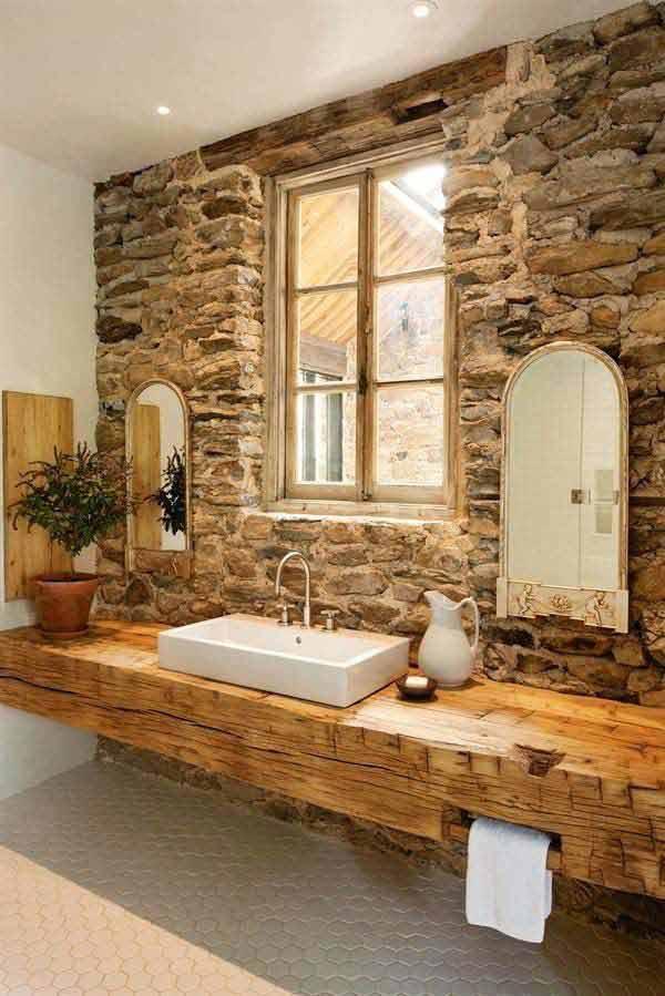 rustic bathroom ideas 9 30 ห้องน้ำที่ไม่ซ้ำบ้านไหนๆ แขกไปใครมาจำได้แน่นอน