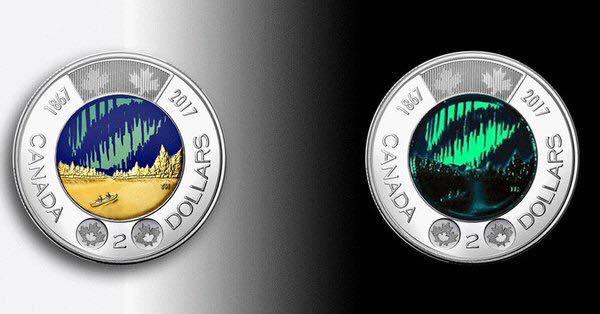 เงินเหรียญ เหรียญแรกในโลกที่ออกแบบให้เรืองแสงได้ ผลิตเพียง 3,000,000 เหรียญ 3 - Canada