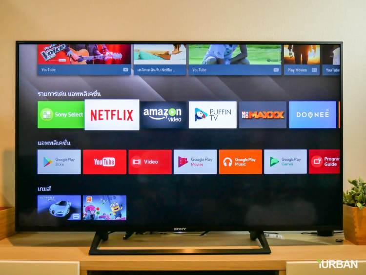 รีวิว SONY Android TV รุ่น X8000E งบ 26,990 แต่สเปค 4K HDR เชื่อมโลก Social กับทีวีอย่างสมบูรณ์แบบ 49 - Android