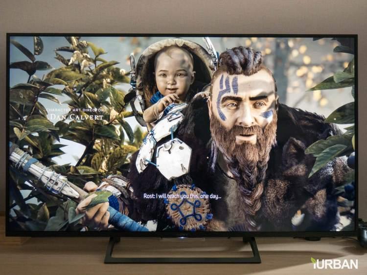 sonyx7000e 2 750x563 รีวิวภาพจริง SONY 4K HDR TV รุ่น X7000E เจน 2017 ตัวถูกสุดนี้ มีดีอะไรบ้าง?