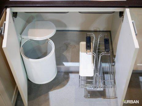ถังขยะที่เปิดฝาเองเมื่อเปิดตู้