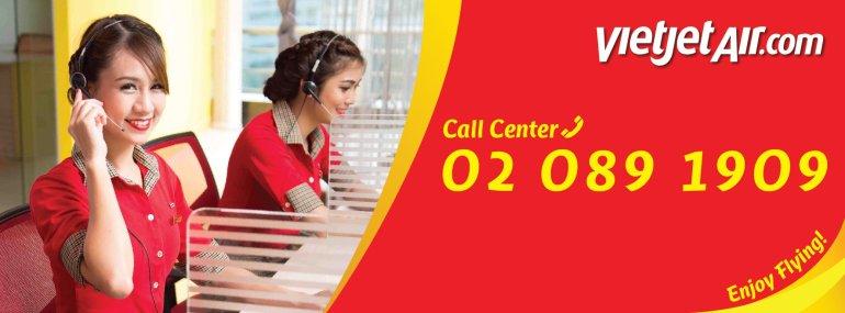 สายการบินไทยเวียตเจ็ท เบอร์โทร Call Center หมายเลขใหม่ 02-089-1909 13 -