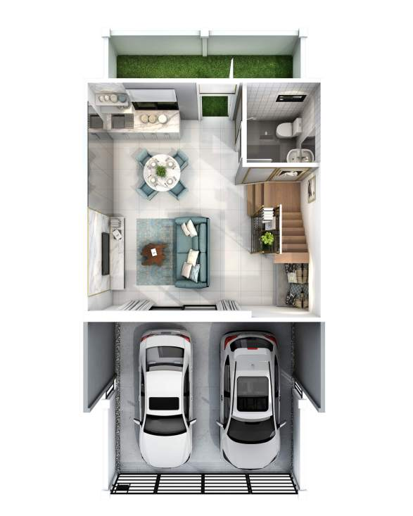 2560-5-25 Pleno Ratchapruek - 17.5 wa Floor Plan - 1F(M)