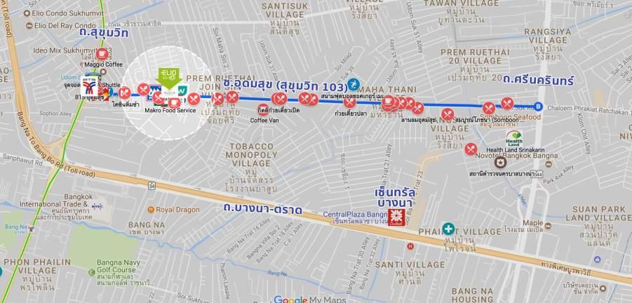 map sukhumvit103 inside ELIO DEL NEST คอนโดส่วนกลางใหญ่ 4 ไร่ ใกล้ BTS อุดมสุข เริ่ม 2.29 ล้าน